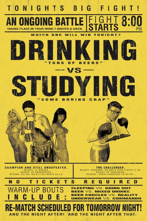 Drinking vs.Studying
