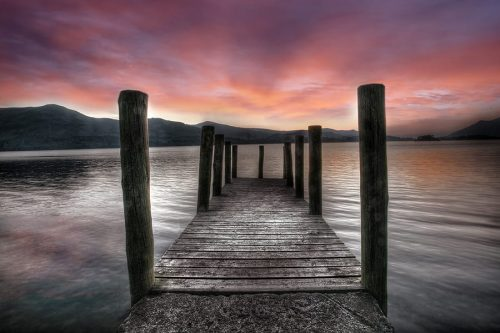 Lake District Derwent water Pier