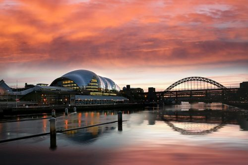 Newcastle SAGE AND TYNE SUNSET