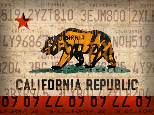 California State Flag in License Plates