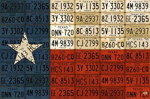 Texas State Flag License Plate Art