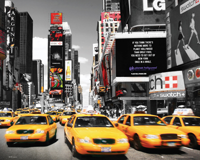 New York Times Square Yellow Cabs