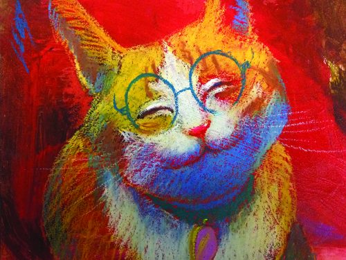 Orange Cat with Specs